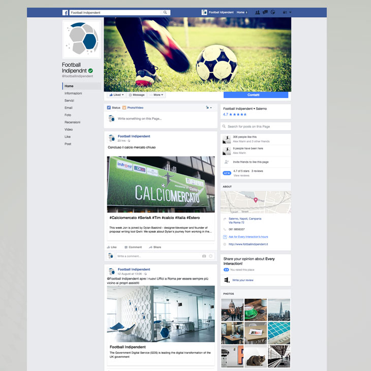 Football Indipendent Marchio Immagine Coordinata Aziednale Salerno Corporate Image Linea Grafica 11
