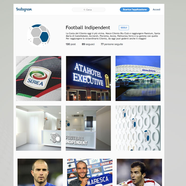 Football Indipendent Marchio Immagine Coordinata Aziednale Salerno Corporate Image Linea Grafica 12